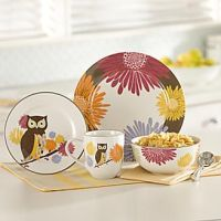 16-PIECE OWL HOOT-N-NANNY DINNERWARE SET | owls ...