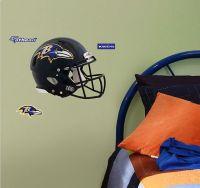 NFL Baltimore Helmet Wall Sticker - 3pc Ravens Football ...