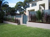 Fence Designs by Modular Wall Systems - block wall of ...