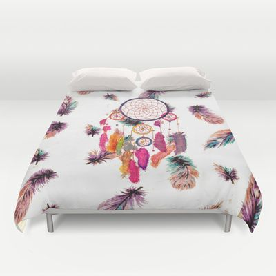 Covers society6 duvet covers feather pattern feathers pattern