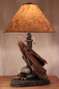 troutrivernaturals - driftwood and slate lamps - ArtFire ...