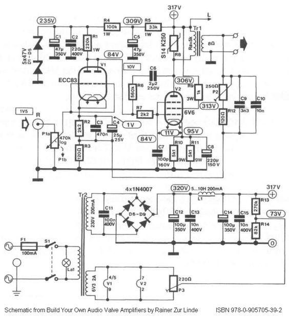 5 volt audio amplifier circuit diagram