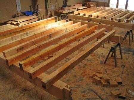 Floor Joist Lay Up | #Timberframe Castle Ring Oak Frame | Timber