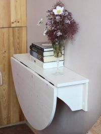 Wall mounted drop leaf table - Fold down desk - Small ...