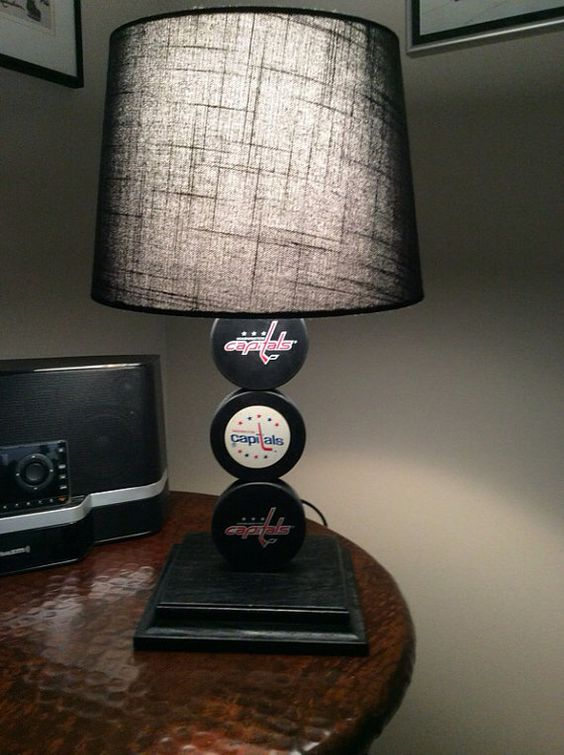 Washington Capitals Hockey Puck Lamp Washington Hockey