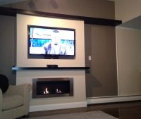 Lata Ventless Fireplace recessed under TV   For the Home ...