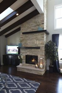 2013 Birchwood Parade Home, floor to ceiling stacked stone ...