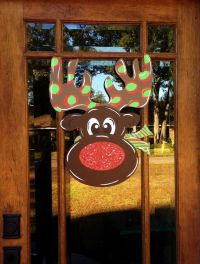 Reindeer, Red nosed reindeer and Christmas decorations on ...