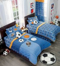 Details about Twin,Full,Bunk bed Boys Football & Soccer ...