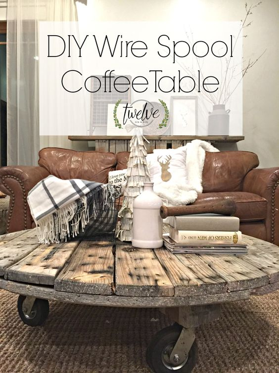 "Cable/wire spool turned coffee table... | ""DIY Wire Spool Coffee Table"":"