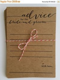 Advice for the bride and groom - letterpress - 10 pack ...