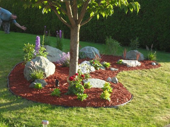 Easy Diy Landscaping - Build A Rock Garden | Gardens, Front Yards