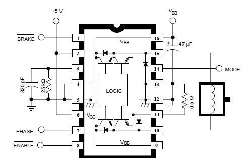 a3952s dc servo motor controller electronic circuit diagram project