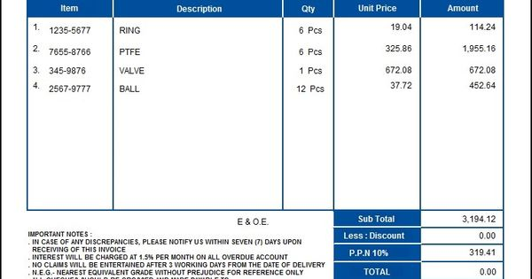 purchase order templates free