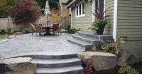 stamped concrete patio landscaping ideas patio deck ...