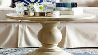 Dawson Round Pedestal Coffee Table | Pottery Barn ...
