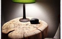 DIY tree stump nightstand. ThriftyHabit.com #DIY # ...