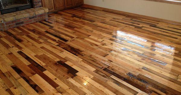 Completed Pallet Wood Floor Abuildingweshallgoblogspot
