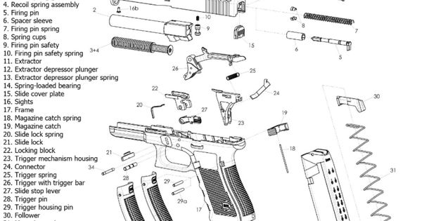 ruger lcp exploded parts diagram ruger lcp pistol pinterest