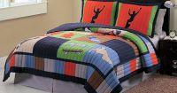 Skateboard Bedding 3pc Full/Queen Quilt Set Bedspread ...