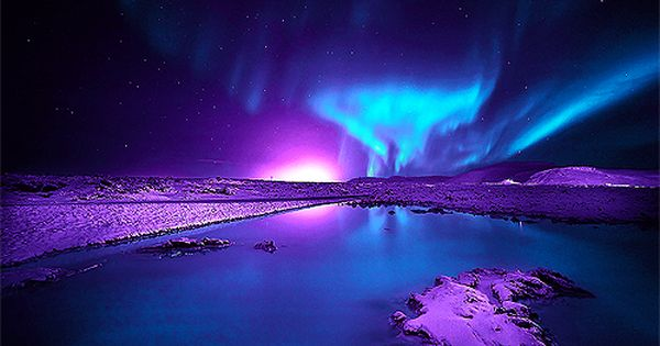 3d Colours Wallpaper Heart Auroras Purple And Blue Northern Lights Auroras