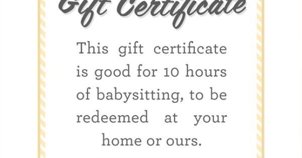 babysitting coupons