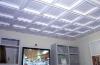 Coffered ceiling tiles...great for a basement or ...