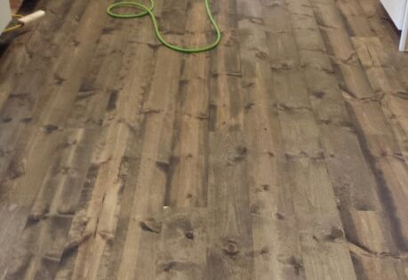 Jacobean Floors This Is Rustic 1x8 Pine Flooring Stained With Minwax