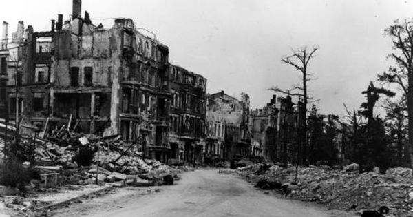 After World War Two Damaged Buildings In Berlin, Germany -- After World War Ii