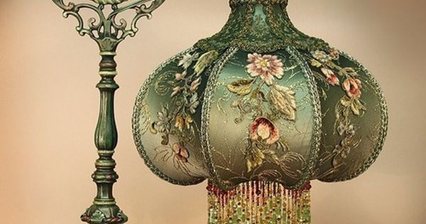 justasimplelife07: Victorian lamp with beaded fringe lamp