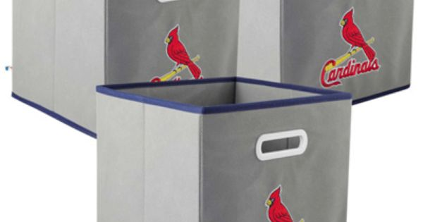 St Louis Cardinals Set Of 3 Fabric Storage Drawers