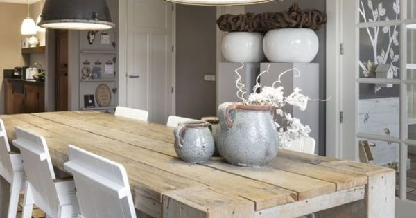 Karwei Eetkamer Tafel Love These Lights! - Industrial | Pinterest - Grijs, Hout