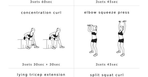 arm workouts upper body circuit workout