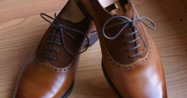 Chocolate Caramel Carved Pointed Toe Oxfords