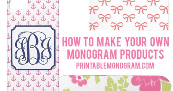 make your own monogram printable
