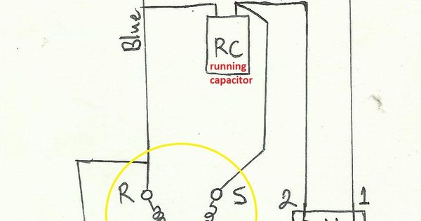 air compressor capacitor wiring