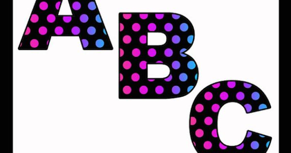 printable bold letters
