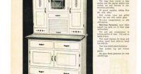 1940 ULTRA MODERN HOOSIER TYPE KITCHEN CABINET Vintage ...