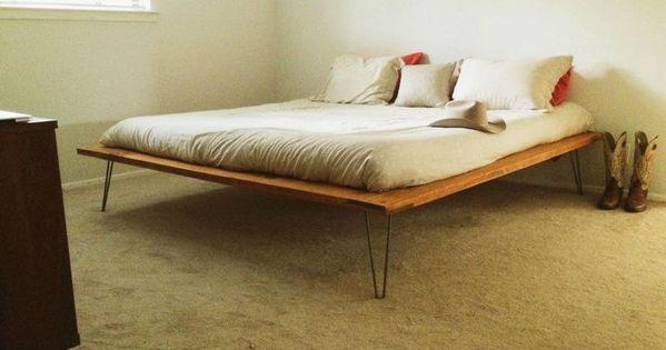 simple DIY plywood beds