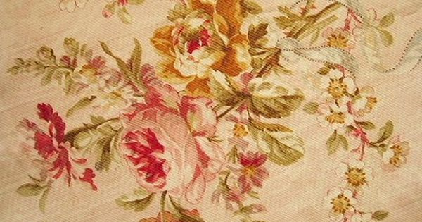 Vintage Pin Up Girl Wallpaper French Rose Fabric Cream Amp Rouge Pinterest Antique