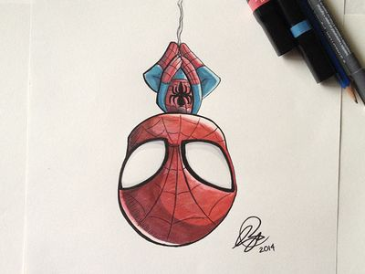 Super Cute Little Baby Wallpapers Chibi Spiderman Marker An Spider Man And Heroes