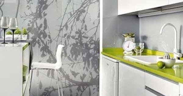 Küche Weiß Grün Küchentheke Barhocker Design Wohn\/Esszimmer   Nolte  Kchentheke