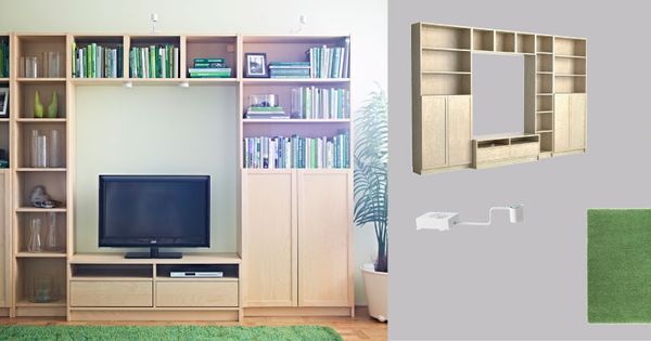 """""""Baby proof"""" living room media storage solution/bookcase"""