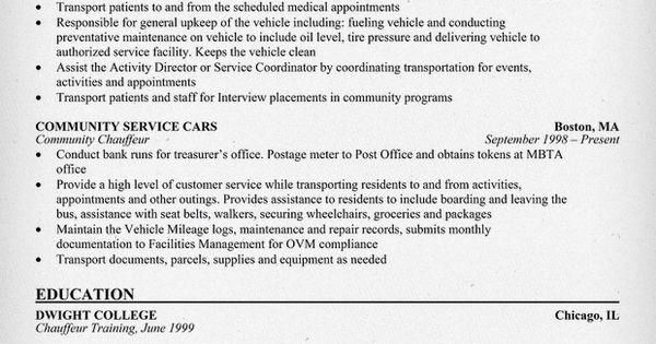 chauffeur resume node2002-cvresumepaasprovider - chauffeur resume