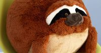 Plush One Pillow in Sloth. Get cozy with this soft sloth ...
