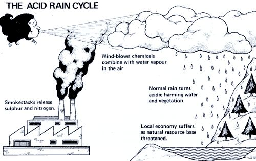 production acid rain diagram
