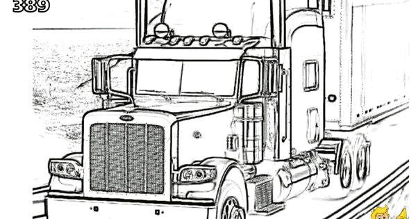 peterbilt tractor ledningsdiagram