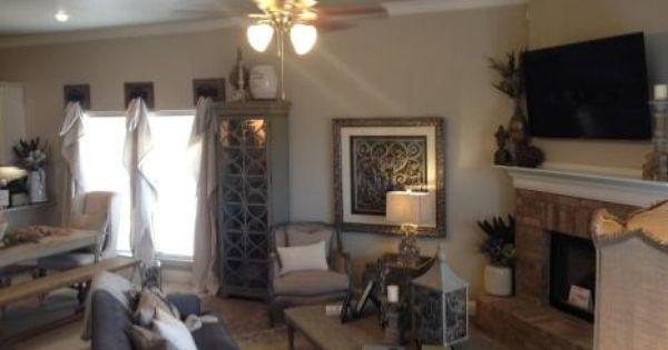 Betenbough 2015 Parade Home quaint living room with hidden
