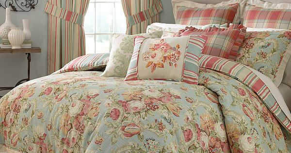 Reversible Duvet Set Waverly Spring Bling Bedding Collection | Bedrooms