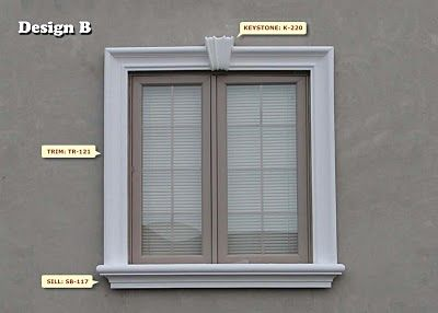 Exterior window moulding lay out amp design for the home